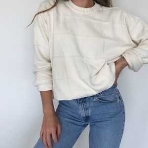 Vintage vibe chunky knit sweater